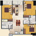 View Combined 3-Bedroom Unit Floor Plan and Perspectives